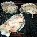 Huîtres gratinées aux petits lardons