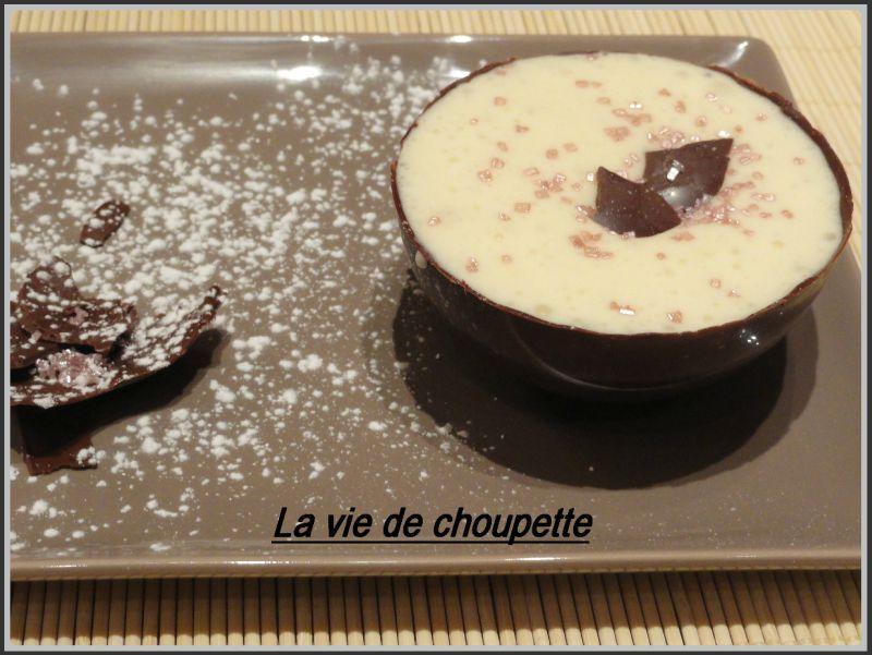 SPHERE CHOCOLAT NOIR MOUSSE CHOCOLAT BLANC