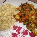 *** wok de blancs de poulet aux épices et boulgour ***