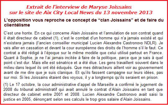 CAA 3 joissains aix city local news 13 nov 2013