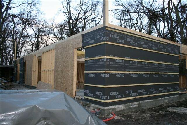 Panneaux d 39 osb et pare pluie ossature bois for Osb exterieur pluie