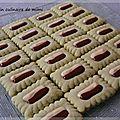 Biscuits à la pistache et aux 2 chocolats