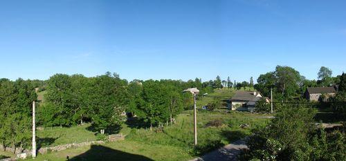 2008 06 18 Panorama du paysage de Madelonnet avec pour la première fois du mois du ciel bleu !