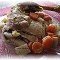 Poulet sur lit de carottes et céleri