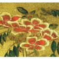 04-Kotohira-gu, Hanamaruzu (fleurs), détail de fleurs, Itô Jakuchû (1716-1800), 1764, n°1