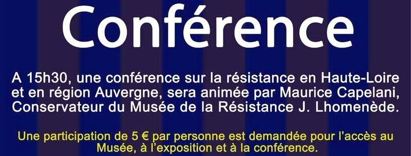 Affiche de l'exposition et de la conférence-Musée de Frugières