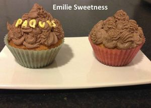 Cupcakes banane-crme de chocolat Emilie Sweetness
