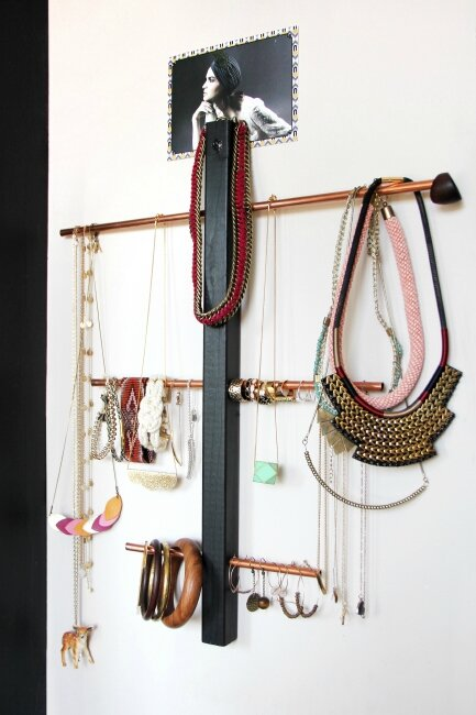 diy un porte bijoux en cuivre t te d 39 ange. Black Bedroom Furniture Sets. Home Design Ideas