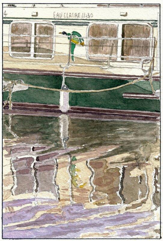 27 Sablé - Pénichette (vue depuis la capitainerie) 1995 07 26 (1 de 2)