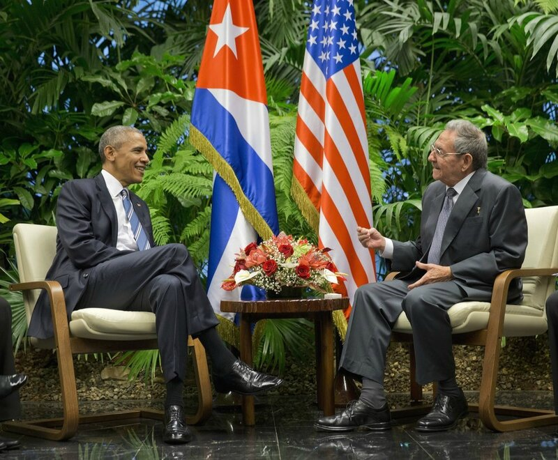 Barack Obama with Raul Castro, visit to Cuba march 21 2016