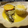 Turbot facon beurre blanc d'agrumes et riz de camargue (recette maison)