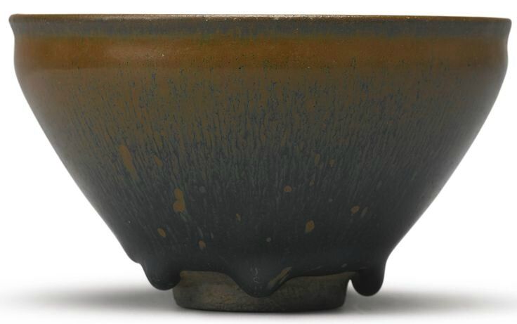 A rare inscribed 'Jian' 'Hare's Fur' bowl, Song dynasty