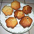 Muffins au citron et myrtilles séchées