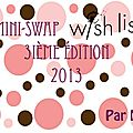 mini swap wishlist 3ème édition by nelcie