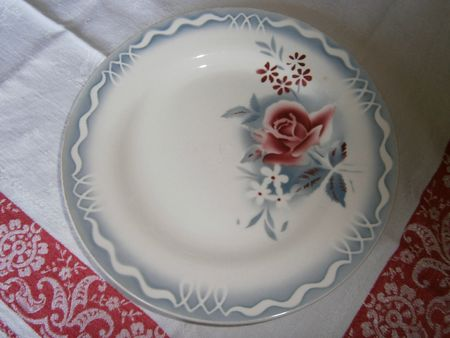 Assiette plate Lot Digoin 23 cm