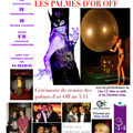 POSTER FOR THE 2008 OFF GOLDEN PALMS AWARDS