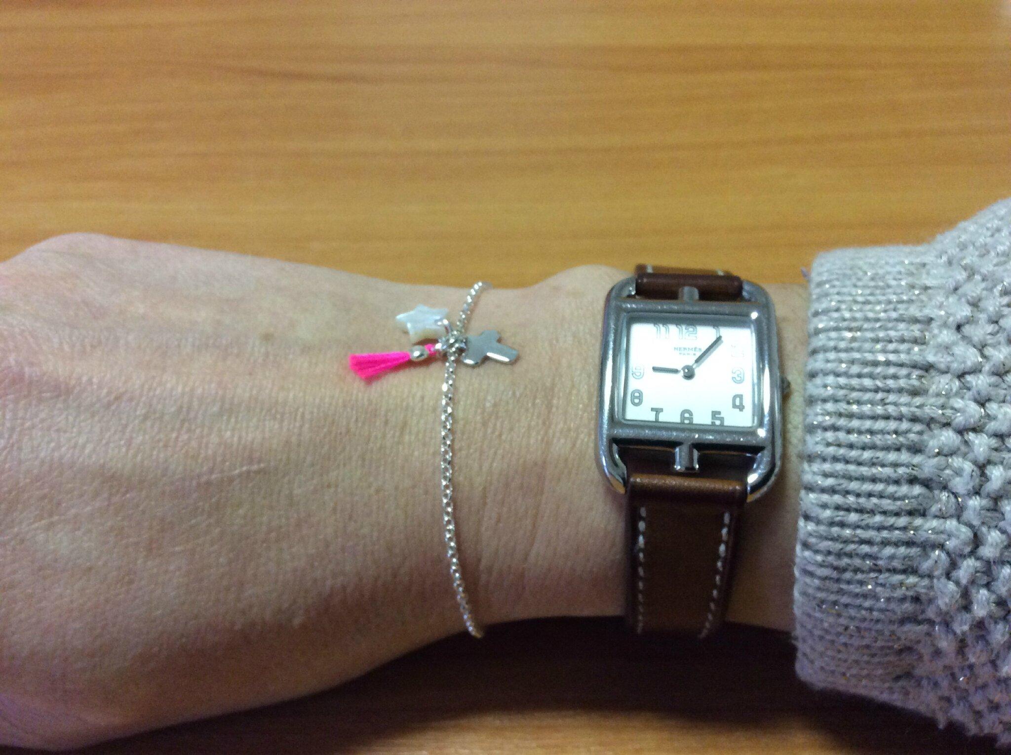Bracelet Catho branchée d'Emilie (rose fluo)