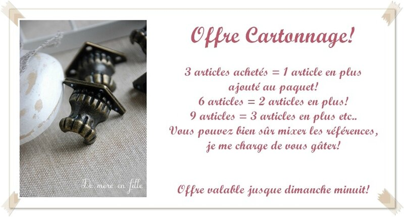 offre cartonnage