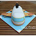 Gâteau anniversaire enfant Nîmes aviao pate a sucre2