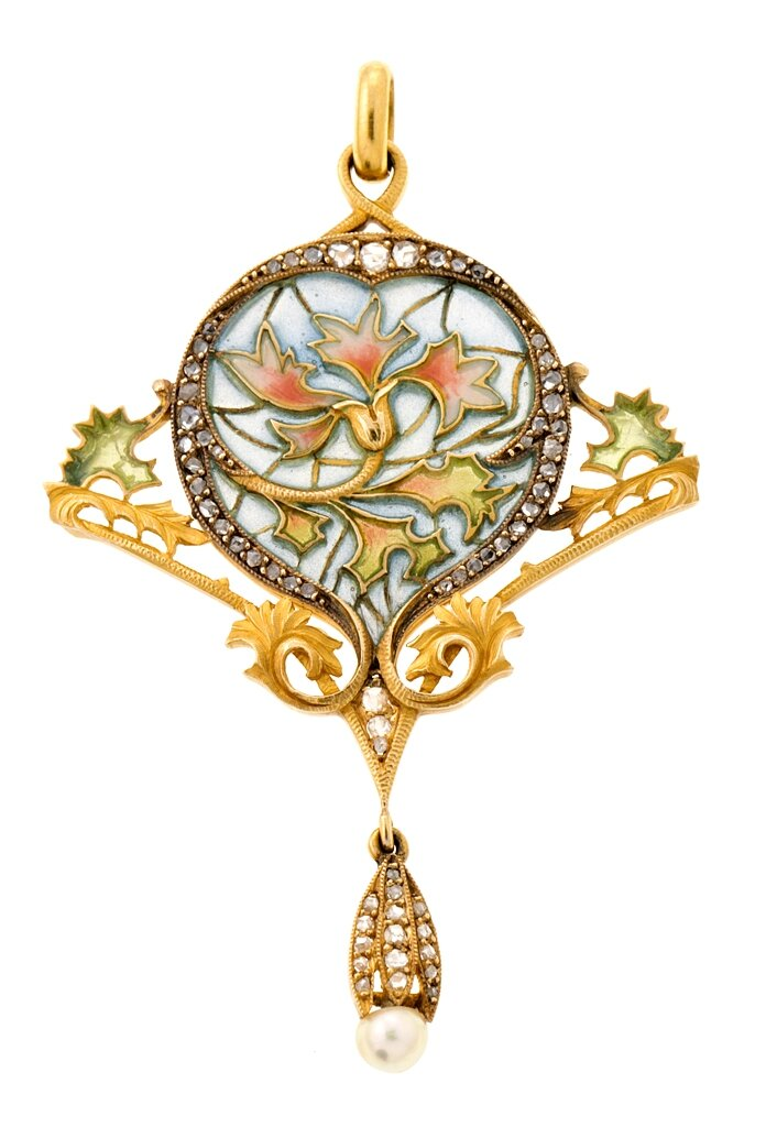 Attributed to Masriera Hermanos, Modernista pendant, circa 1910