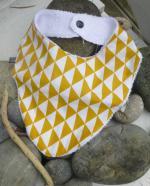 bavoir bandane jaune
