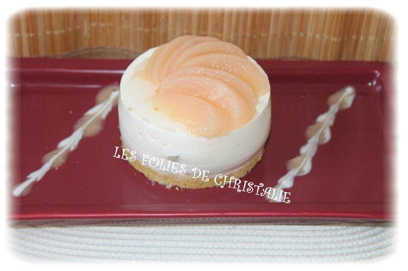 Cheesecake pêches 11