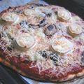 Pizza maison, jambons Leader Price, très bonne !
