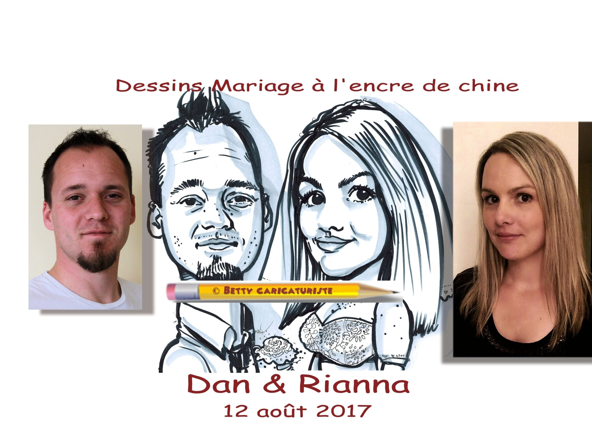 dessins de mariage imprimer drawing wedding for print betty caricaturiste - Caricaturiste Mariage