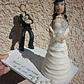 figurine à gateau de mariage Pecheur; personnalisée