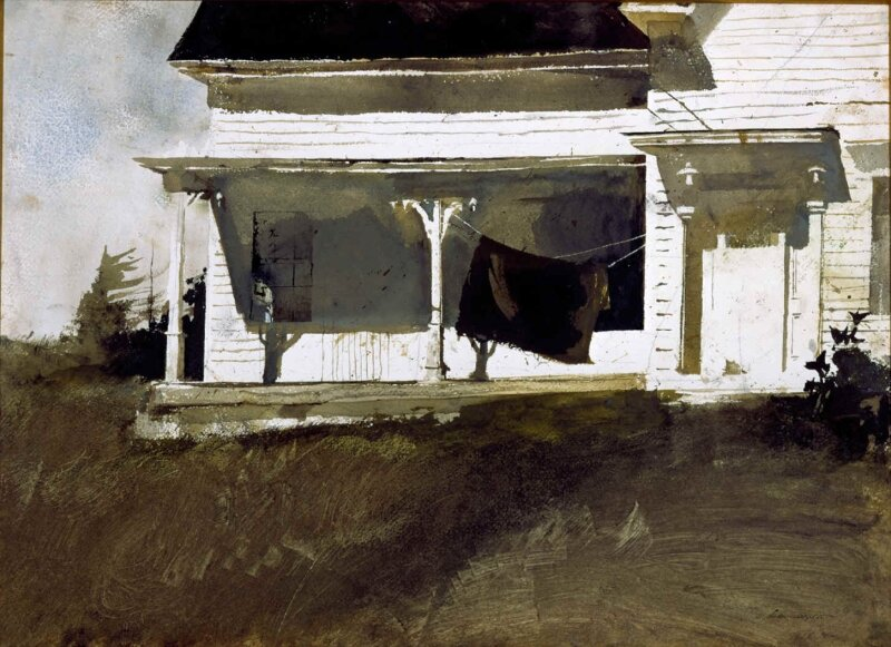 Army blanket, Andrew wyeth