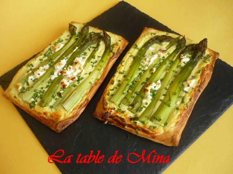 tarte du jardin aux asperges et ricotta la table de mina. Black Bedroom Furniture Sets. Home Design Ideas