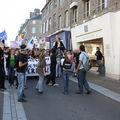 Les lycéens dans la rue contre la réforme des retraites à avranches - mardi 12 octobre 2010