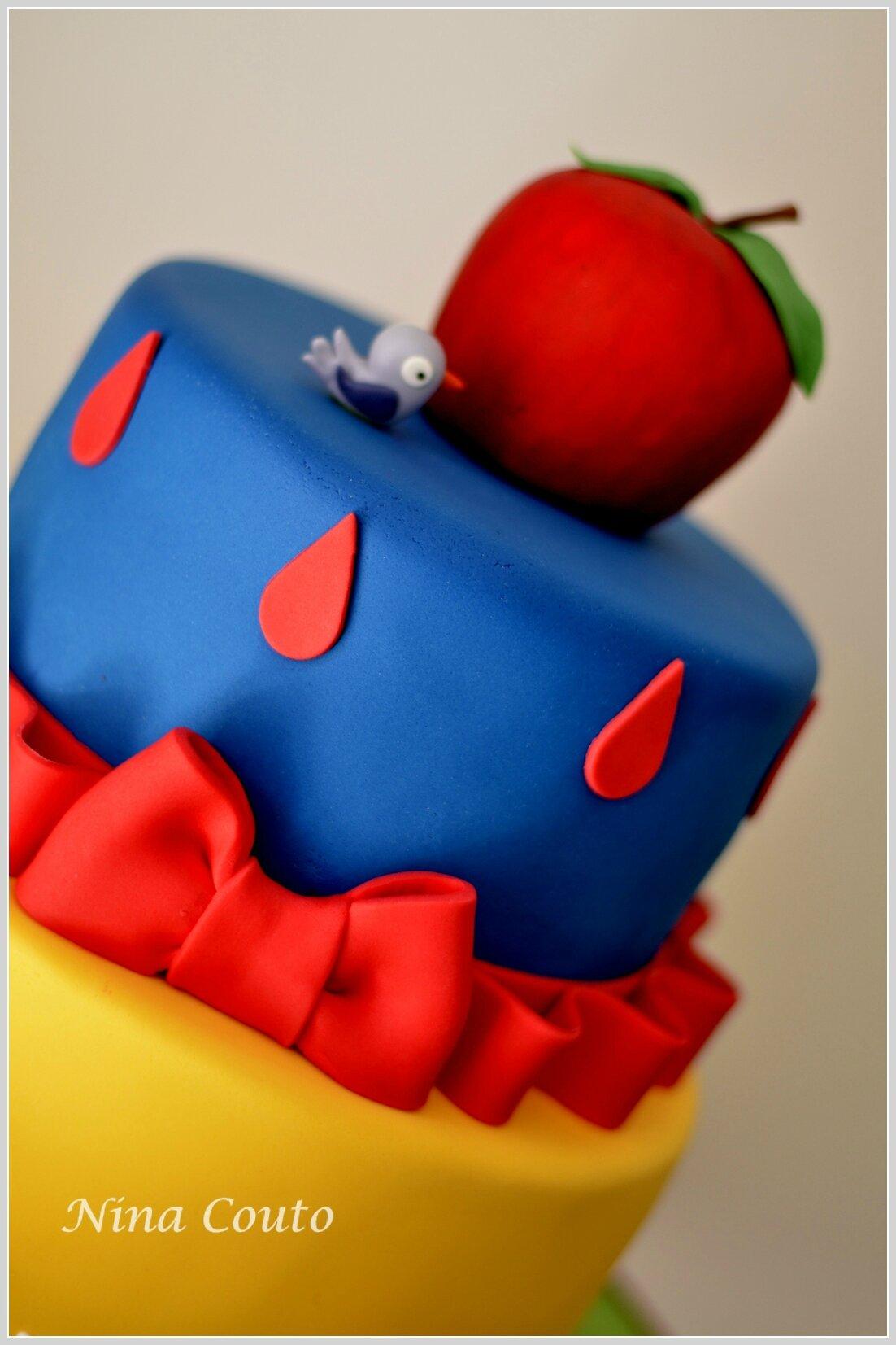 Gâteau anniversaire enfant Nîmes blanche neige nina couto2