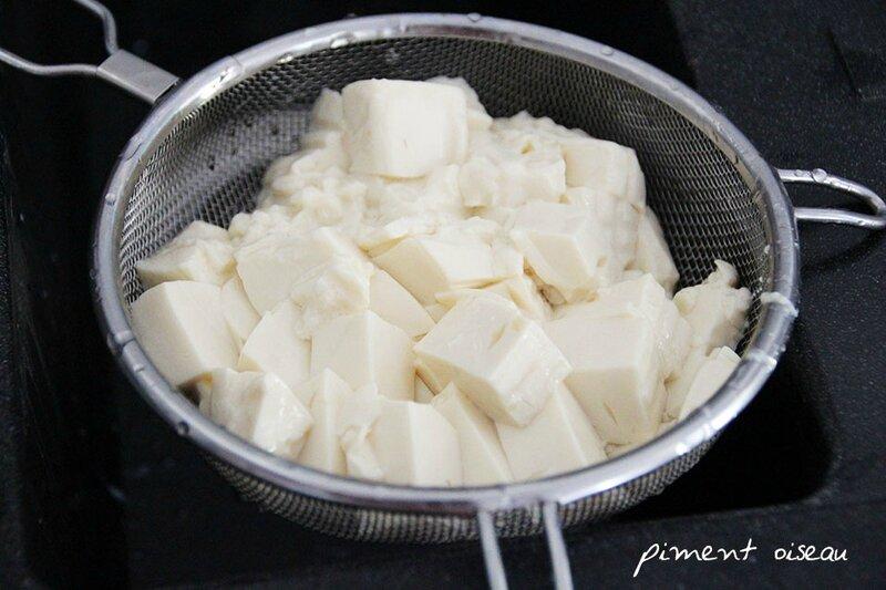 1egoutter le tofu