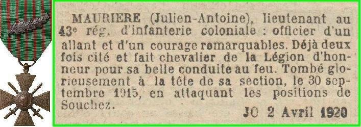 MAURIERE 1920 PALME