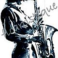 Carte saxophoniste
