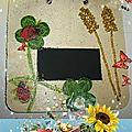 Plaque de porte epi de blé trèfle blog