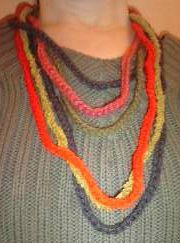 Diy collier laine