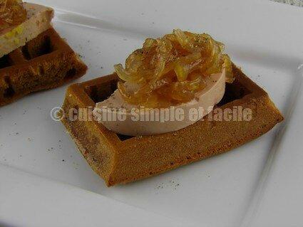 foie gras et sa gaufre au pain d'épices