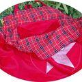 maxi-sac étoile argent doublure écossaise