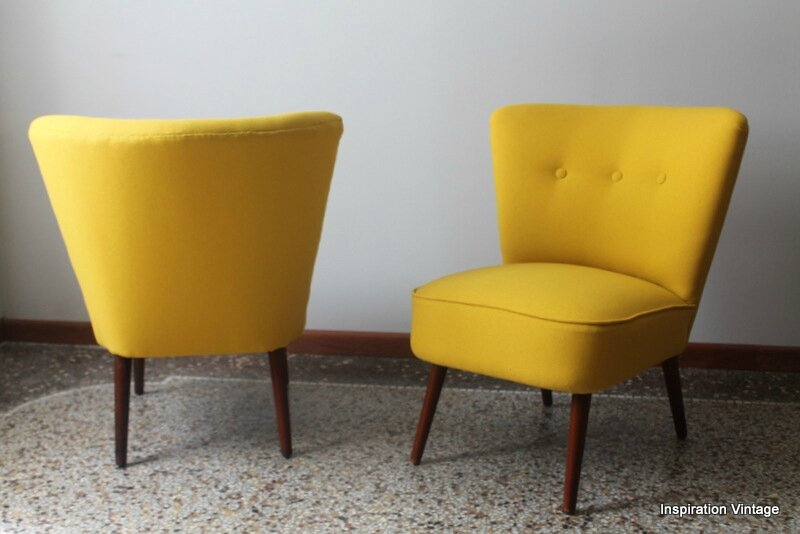 fauteuil vintage jaune cgmrotterdam. Black Bedroom Furniture Sets. Home Design Ideas