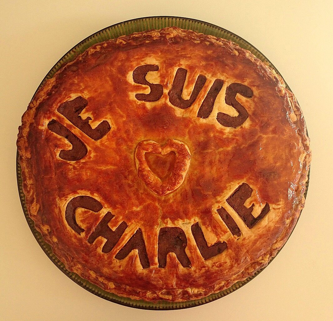 Galette chocolat-poire #jeSuisCharlie