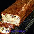 Cake olives chèvre et tomates confites 1