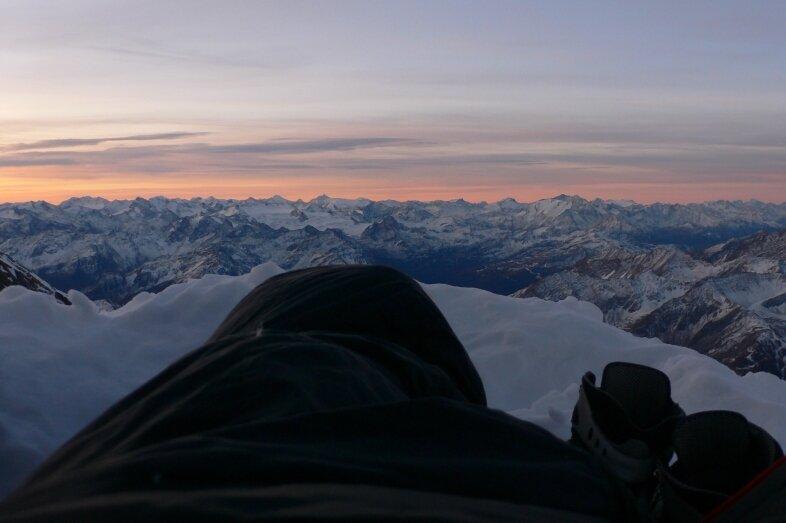 Alpinisme dans le Mont Blanc