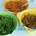 Pâtes de curry rouge, verte et jaune, à ma façon