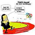 Franois Hollande en visite aux jeux olympiques...
