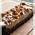 Barres de brownie glacé ou brownie frozen yogurt bars