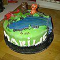 Le gâteau dinosaure (4ème) pour l'école