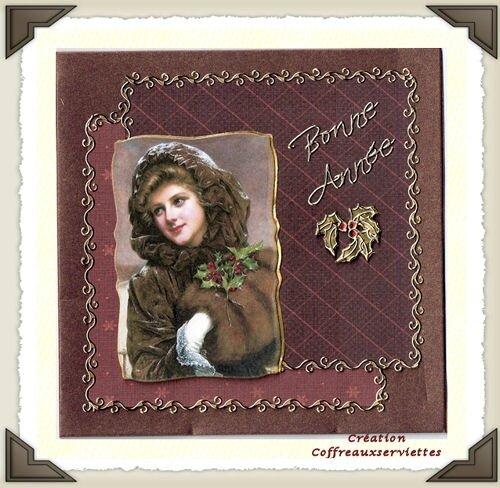 2010 - carte Femme vintage