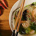 Soupe de vermicelles et crevettes